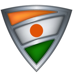Steel shield with flag niger vector