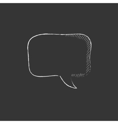 Empty speech square drawn in chalk icon vector