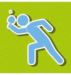 Ping pong game design vector