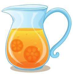 A pitcher of orange juice vector