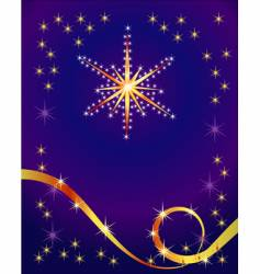 abstract holiday background with star vector image vector image