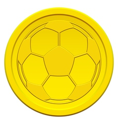 Ball on coin vector image vector image