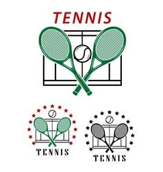Big tennis emblems or badges vector