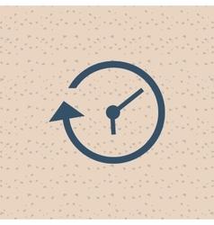 Clock icon design vector image vector image