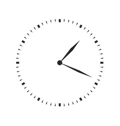 Clock icon isolated on white background vector