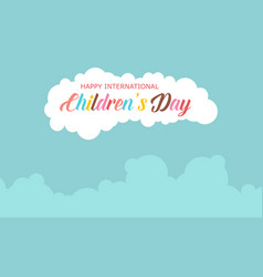Collection stock children day celebration vector