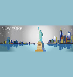 Colorful new york city silhouette vector