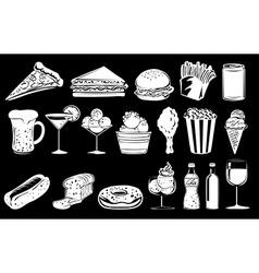 Doodle design of foods vector image