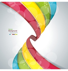 eps10 abstract colorful wave background vector image vector image