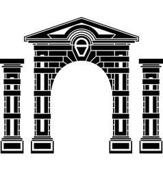 Fantasy arch and columns vector