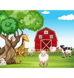 Farm animals and wild animals vector