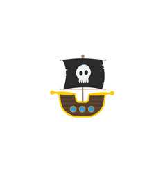 flat icon ship element of vector image