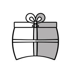 gift box ribbon traditional decorative shadow vector image