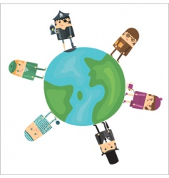 global professions vector image vector image