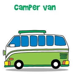 Green camper van for kids vector