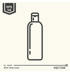 Hairdressing tools icons series bottle vector