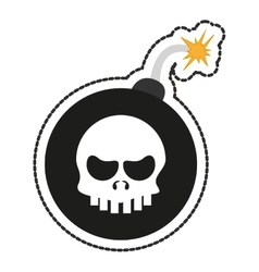 Isolated skull and bomb design vector