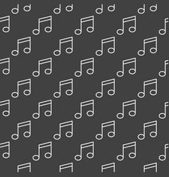 music note dark pattern vector image vector image