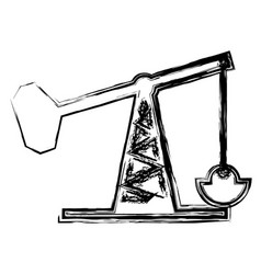 Oil rig structure icon vector