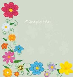 Pastel floral frame vector