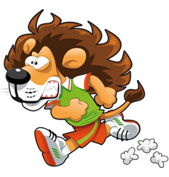 Runner Lion vector image vector image