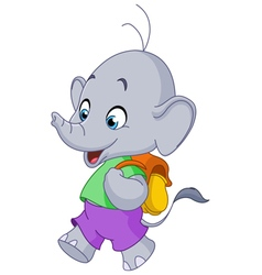 school elephant vector image vector image