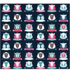 Seamless pattern ship background vector