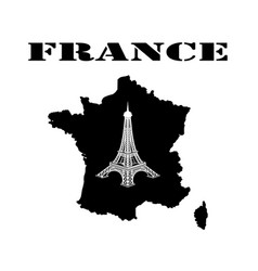 Symbol of france and map vector