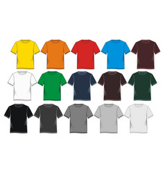 t-shirt template colorful blank vector image vector image