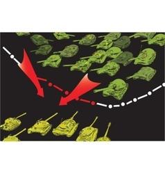 Tanks Invasion vector image