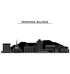 usa montana billings architecture city vector image