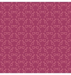 valentine day red seamless background vector image vector image