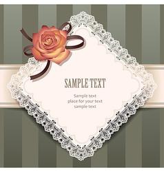 vintage rose rhombus vector image vector image