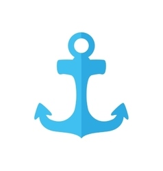 Blue anchor icon sea lifestyle design vector