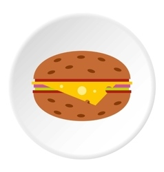 Cheeseburger icon flat style vector