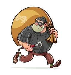 Bandit with jimmy carry sack vector image