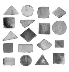 Watercolor geometric design elements vector
