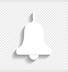Bell alarm hand bell sign  white icon vector