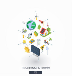 Environmental integrated 3d web icons digital vector