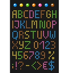 Colorful beaded english alphabet vector