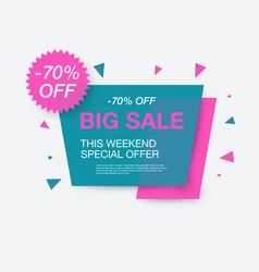 Weekend sale banner special offer vector