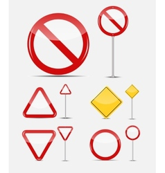 Blank Traffic Sign Set vector image