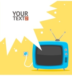 Retro television card flat design vector
