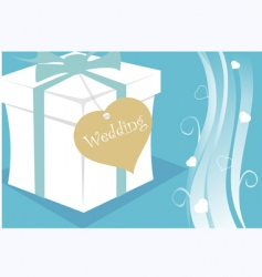 Wedding gift packet vector