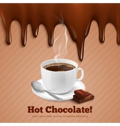 Chocolate and coffee background vector
