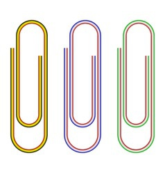 striped paperclips vector image