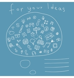 Cover with hand drawn icons for your ideas vector