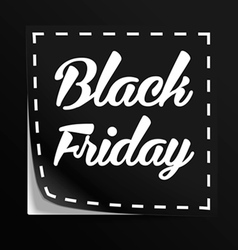 Coupon with Black Friday tag vector image