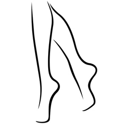 Graceful female feet vector