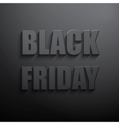 Black friday sales typographic poster vector